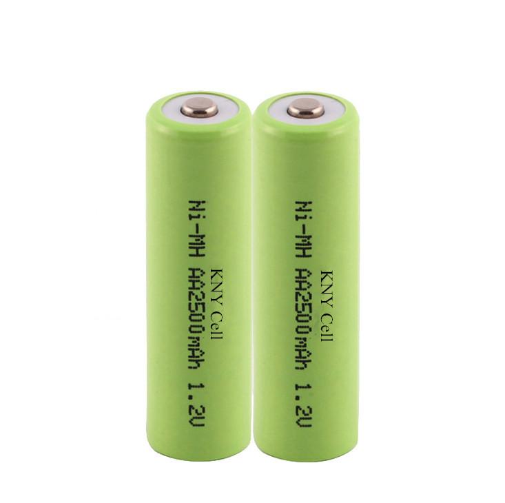Rechargeable Ni-MH battery AA2500mah 1.2v electronics battery