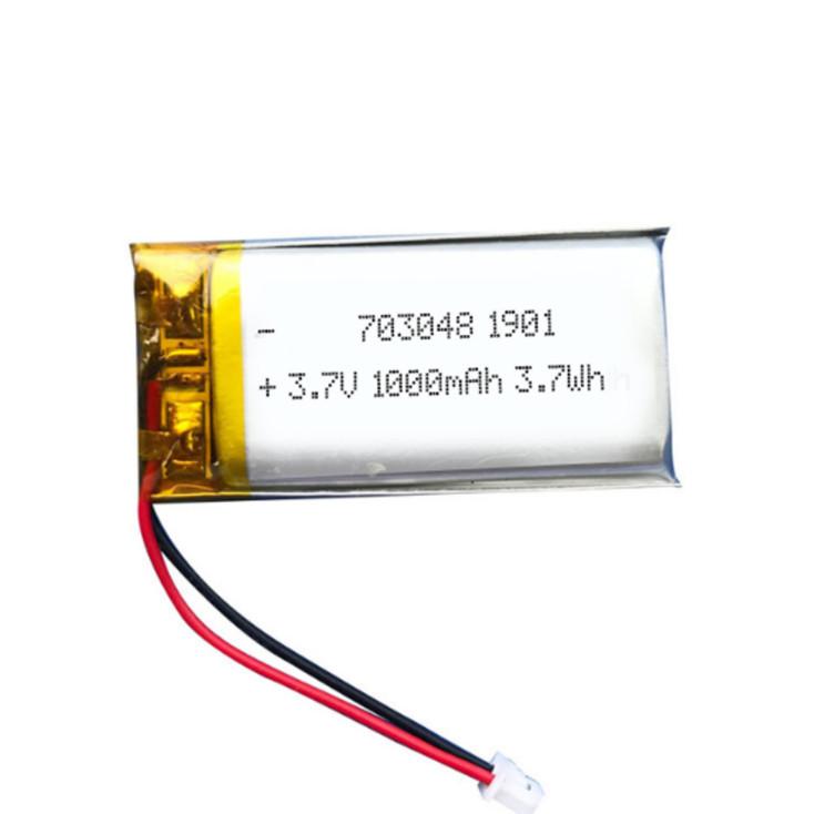 Beauty Meter Li-Polymer Battery 703048 3.7 v 1000mah, UV disinfection lamp batteries
