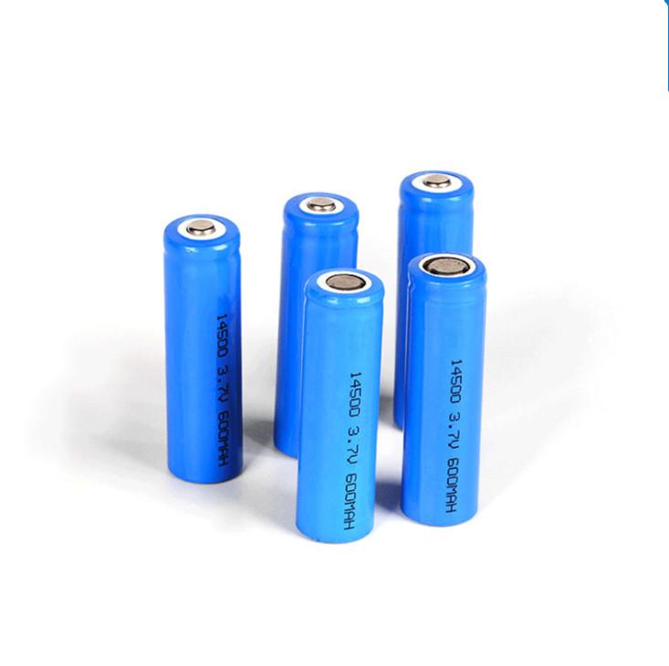 14500 bateria de lítio recarregável para mouse sem fio ,3.7v bateria de áudio pequena 500mAh