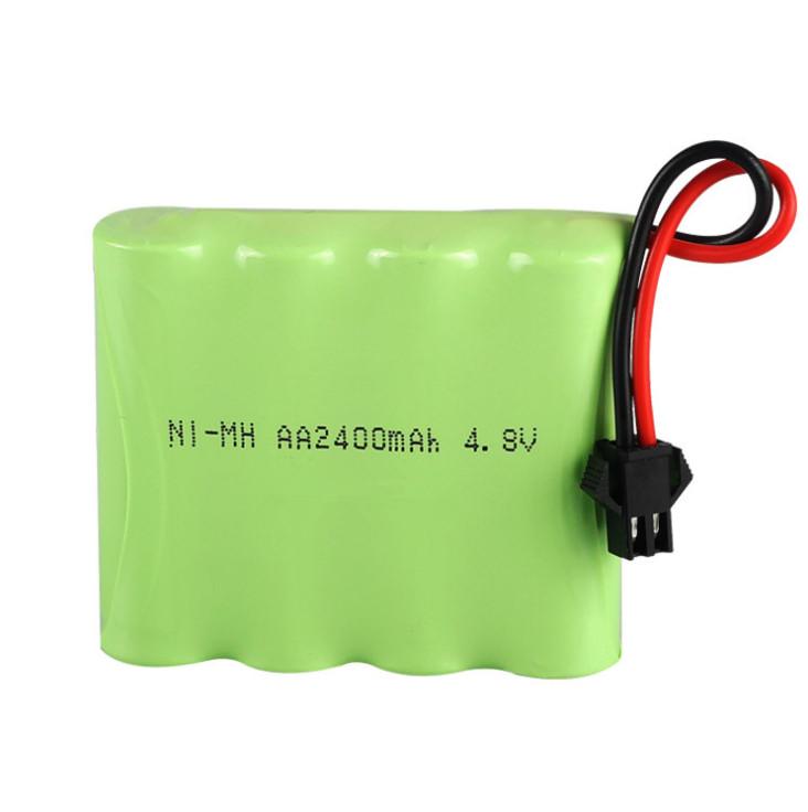 4.8Pacote de bateria recarregável Ni-MH V 2400mAh, Bateria AA de controle remoto para veículos