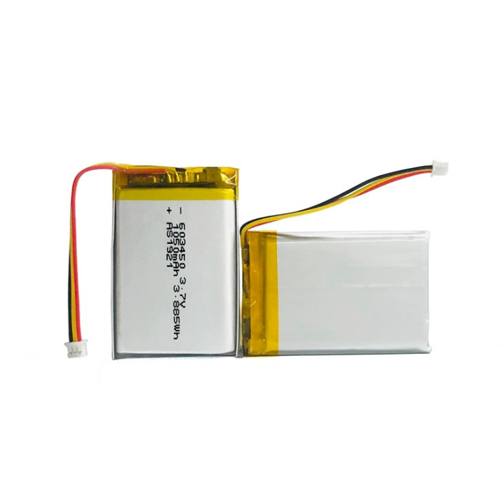 603450 Li-Polymer wearable devices batteries,3.7V 1050mAh wristband battery