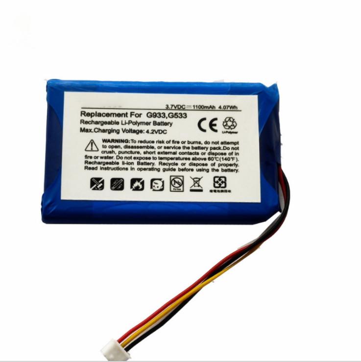 Bateria de headset sem fio Bluetooth Logitech G933 G533 Aftermarket 533-000132