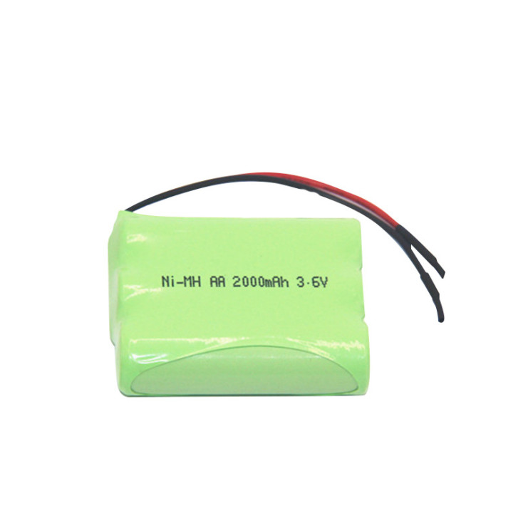 AA2000mAh 3.6V Ni-MH rechargeable game handle battery,electronic lock battery pack