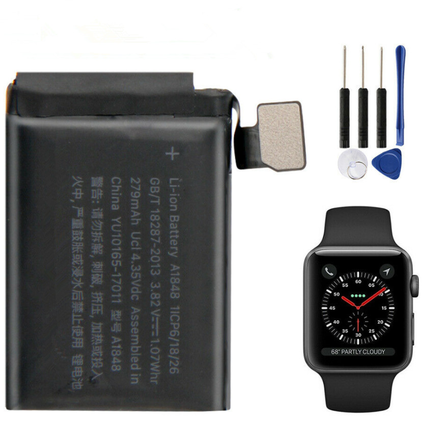 Batería para Apple Watch Series 3 iWatch3 S3 38 mm 42 mm A1848 A1850 A1847 A1875