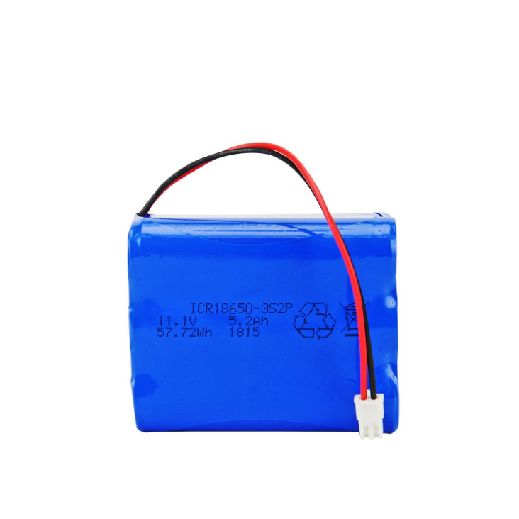 11.1V,5200mAh portable electronic devices batteries, Rechargeable lithium batteries ICR18650-3s2p built-in PCB