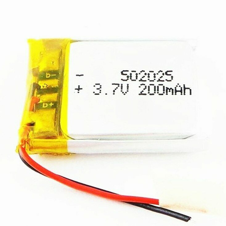 3.7V 200mAh 502025 Li-Polymer Rechargeable Battery For toys,Wireless Headset battery(Free sample)