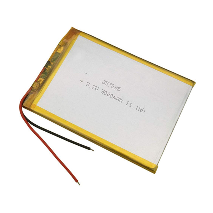 High Capacity 3.7V 3000mAh 357095 Rechargeable li-Polymer Li-ion Battery for 7 8 9 inch Tablet PC MP3 GPS Navigator DVD Recorder