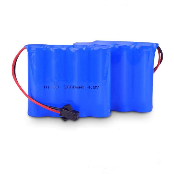 Pacote de bateria NiCD de 4,8 V personalizado de 2000mAh Baterias recarregáveis Ni-CD para carro RC Peças sobressalentes de brinquedo com controle remoto