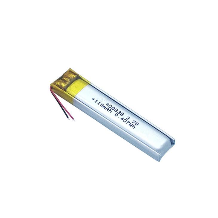 Lithium Polymer Tachograph Battery 400838 110mAh Bluetooth headset battery