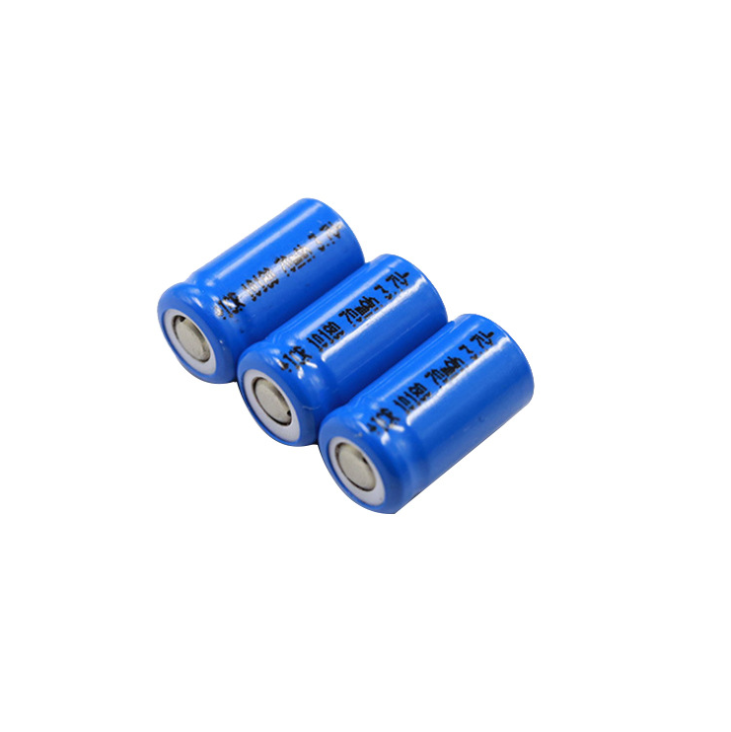 10180 Batteria al litio 70mAh 3.7v Batteria ricaricabile, Batteria al litio cilindrica per elettronica audio Bluetooth