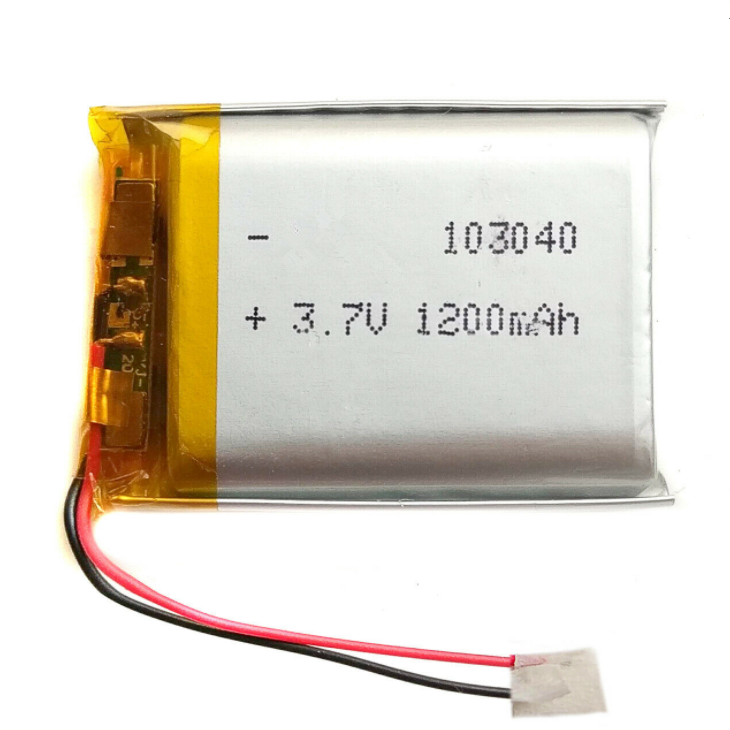 3.7V 1200mAh LiPo 1S Polymer Rechargeable Battery: GPS, MP3, Speaker – 103040