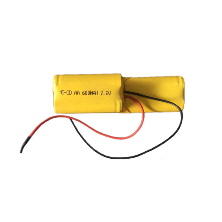 Batteria ricaricabile NI-CD AA 7.2V 600mAh