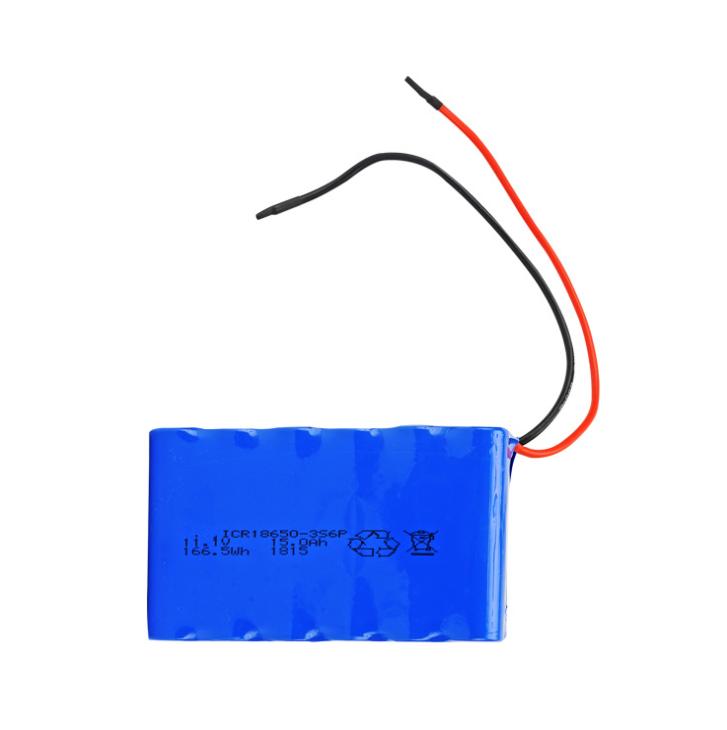 11.1Batteria ricaricabile per lampione solare V 15AH 3s6p, Pacchi batteria personalizzati per apparecchiature mediche