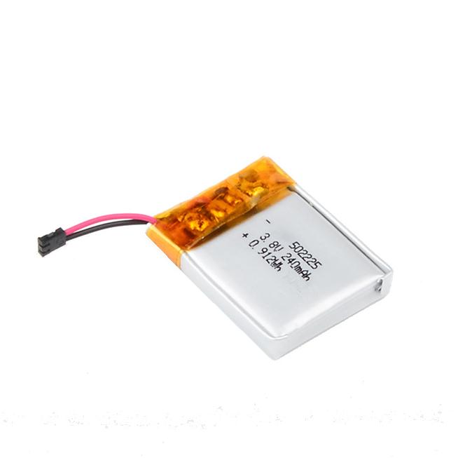502225 3.8v,240mAh Beauty Gammer Polymer Lithium Battery, Bateria de navalha elétrica