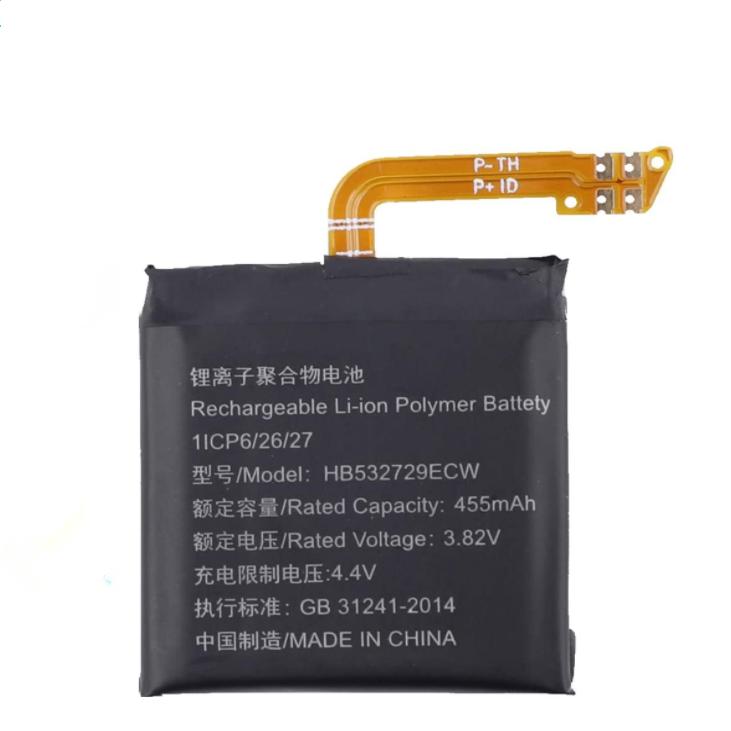 Batterie de remplacement HB532729ECW compatible avec Huawei Smartwatch GT2 LTN-B19 DAN-B19 46MM