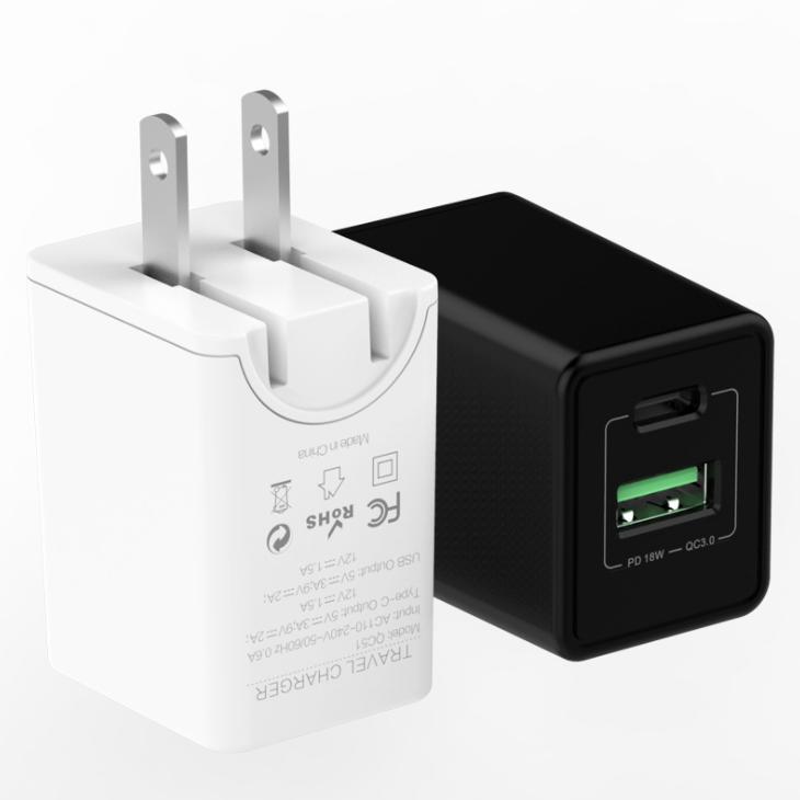 Adattatore di ricarica rapida QC3.0, Caricabatterie per smartphone di tipo c