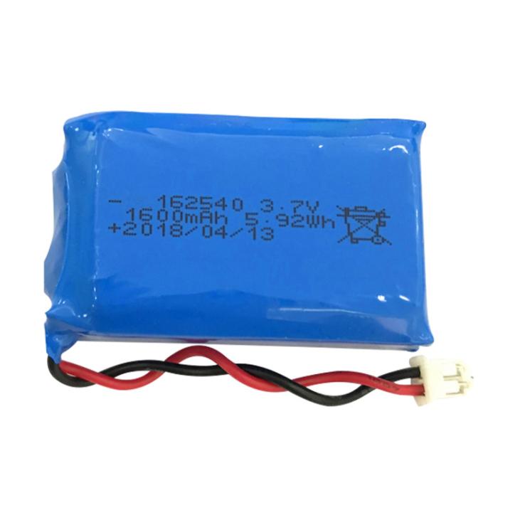 162540  3.7V ,1600paquete de batería de iones de litio mAh, Batería personalizada para dispositivos Bluetooth