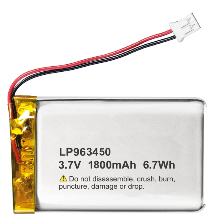 3.7V Li-ion 963450 Battery 1800mAh Lipo Battery Rechargeable Lithium Polymer ion Battery Pack with JST Connector for blood oxygen tracking equipment