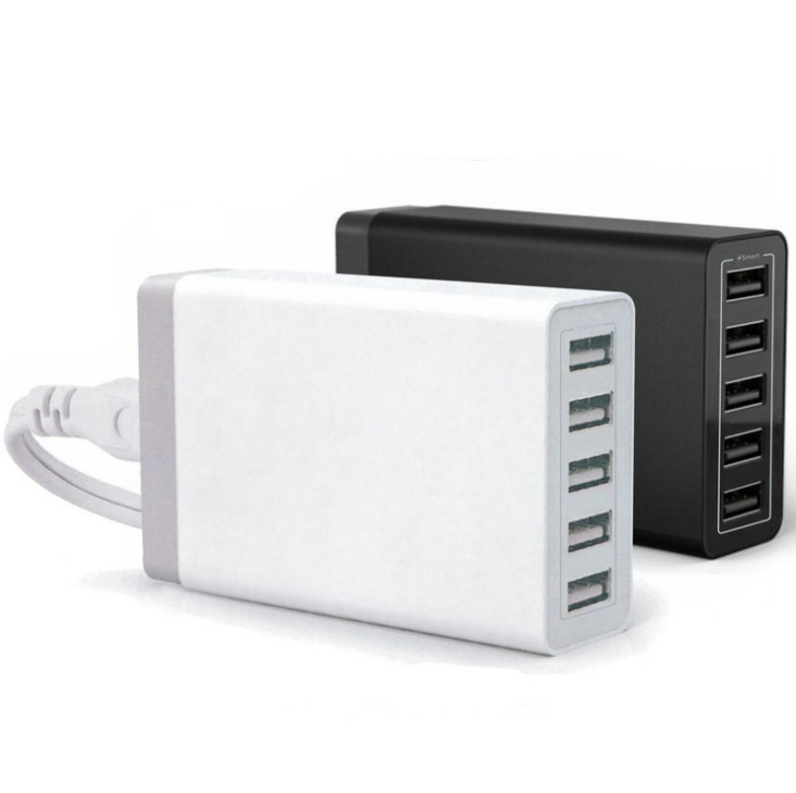 30w 5 caricatore mobile usb, caricatore per smartphone veloce multiporta USB