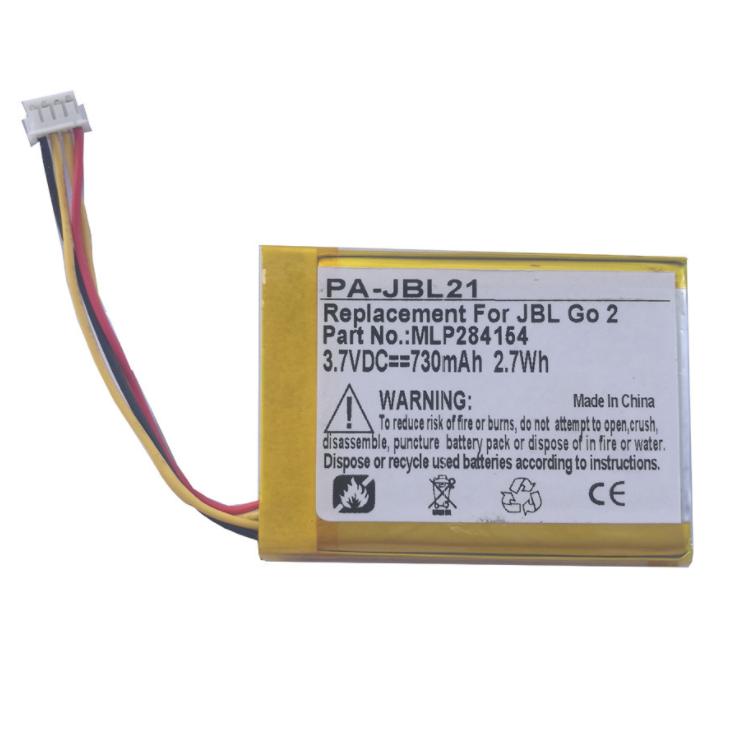 Batterie de remplacement OEM pour enceinte sans fil JBL Go 2, Allez 2H,GO2/MLP284154, MLP284154.
